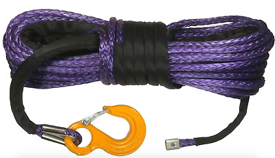 10mm or 11mm PURPLE Synthetic winch rope Dyneema SK75