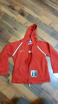 Girls Rainbows hooded top hoodie outfit - size Large - very good condition
