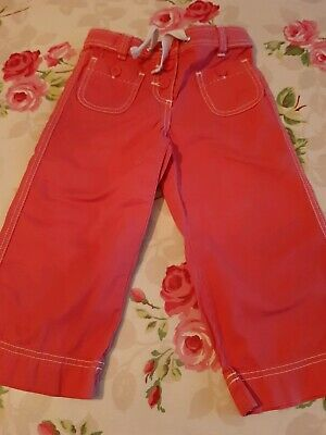 Mini Boden Cropped Red Trousers, Age 8 Years