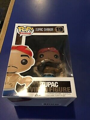 Funko Pop! (Rocks) Tupac Shakur #19 - 2pac - The rare NO EYEBROWS ERROR Variant