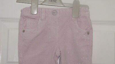 Beautiful NEXT Size 4-5 Years (up to 110cm) Pink Sparkle  Cord Trousers VGC!!