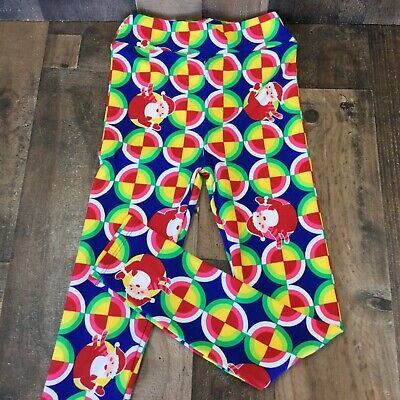 lularoe kids girls leggings  NWOT  L-XL multicolor geometric shapes Santa design