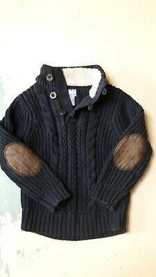 Gorgeous Navy Baby Gap Cable Knit Jumper Age 4 -5