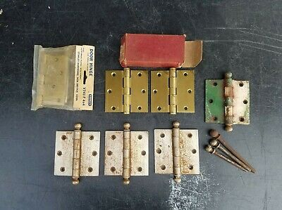Lot Of 7 Vintage Door Hinges and 3 extra pins