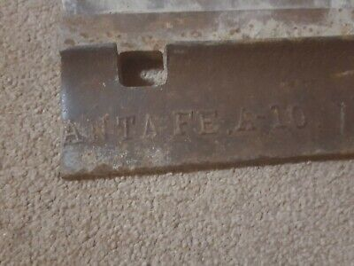 Santa FE Railroad Marked Tie Plate Antique