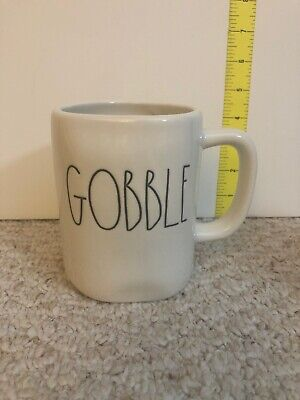 NEW Rae Dunn GOBBLE Mug Cup Fall Thanksgiving 2018