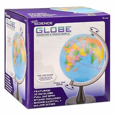 Earth Globe Rotating World Map Science Atlas Explorer 20cm Kids Gift Discover