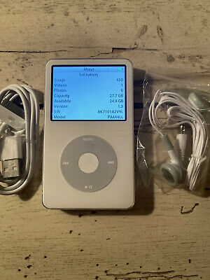 Apple iPod Video 5th Gen White 30 GB Classic ENHANCED REFURBISHED BUNDLE