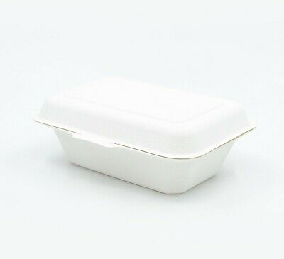 "9x6x3"" Sugarcane Clamshell Compostable Takeaway Food Containers - Sydney"