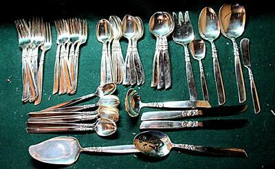 "Vintage Oneida Community ""South Seas"" Pattern Silver Plate Flatware"