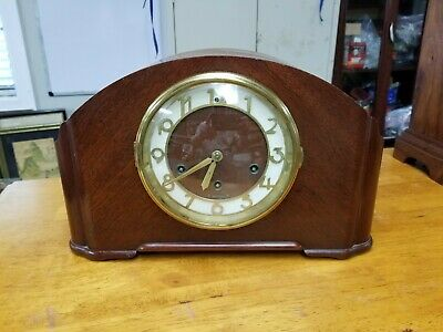 Beautiful Seth Thomas Simsbury Art Deco 8 Day Westminster Chime Clock  Excellent