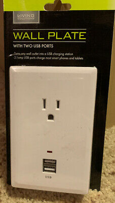 Wall Plate with Two USB Ports