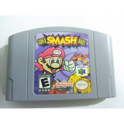 Newest Nintendo N64 Game: Super Smash Bros Video Game Card Y3L6E US/CAN Version