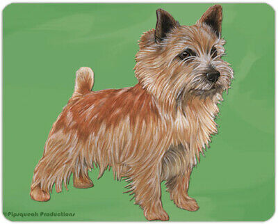 """Norwich Terrier Cutting Board Tempered Glass 11.5 """" x 15.5"""""""