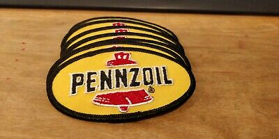 LOT OF 6 Pennzoil patches iron on new quality and vintage stickers oil jiffy