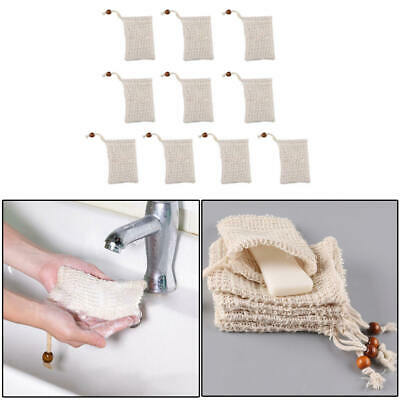 Eco Friendly Natural Sisal Soap Bag Soap Saver Mesh Exfoliator Foaming Pouch