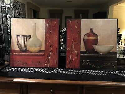 Wall Art Canvases Paintings Framed Beautiful Set Of 2