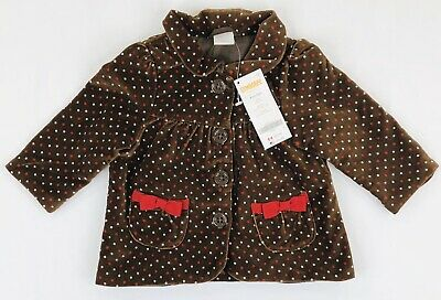 GYMBOREE WOODLAND WONDER CORAL w// DOTTED BUTTONS FLEECE JACKET 12 24 2 3 4 5 NWT