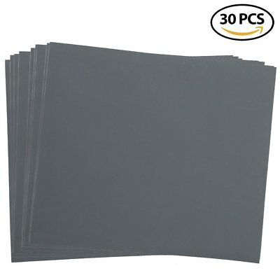 """2500 Grit Dry Wet Sandpaper Sheets 9 x 11"""" Silicon Carbide Sandpaper Pack of 30"""