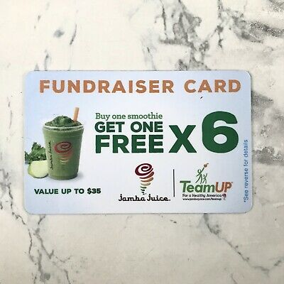 (1) Jamba Juice BOGO FREE Gift Card NEW Unused Cheap ($35 value)