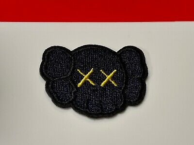 Kaws BLACK Patch Companion Patches Embroidered Sew Iron On Decorative