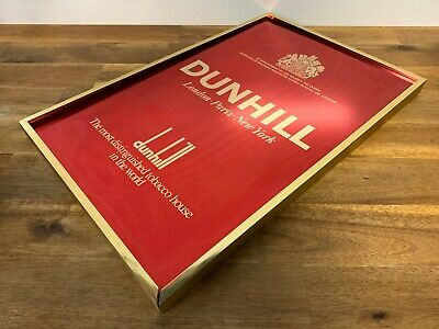 Vintage Dunhill Tobacco Anodized Metal Advertising Sign
