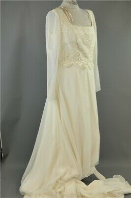 Alfred Angelo Long Sleeve Wedding Dress with Square Neckline and Lace Bodice