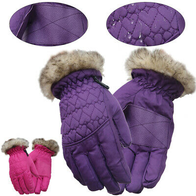 Children Winter Thermal Mittens 1 Pair Gloves Warm Windproof Waterproof Cycling