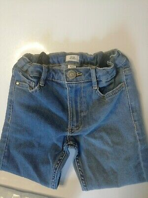 Girls stunning pair of River Island Age 6 Years Blue Denim Jeans Good Condition