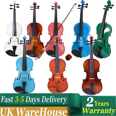 Black Friday Multi Styles 4/4 Size Acoustic Violin Set For Student w/Accessories