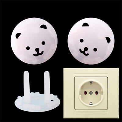 10Pcs/Set Children Bear Power Socket Cover Anti-electric Shock Safety Protector