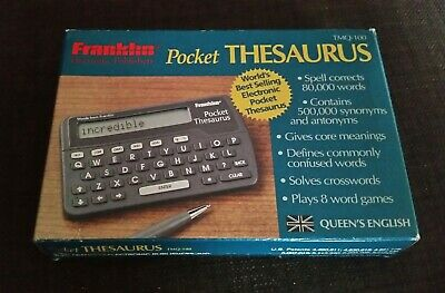 Franklin TMQ-100 Pocket Thesaurus- Boxed- Contents Unused- Very Good Condition