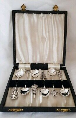 Antique Chinese export novelty Sterling silver tea spoons .By Wai Kee.Hong Kong