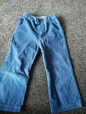 JoJo Maman Bebe Girls Blue Corduroy Trousers Jeans Size Age 3 4 Years Very Good