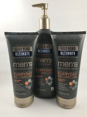 PACK OF THREE Gold Bond Ultimate Men's Essentials Hydrating Lotion