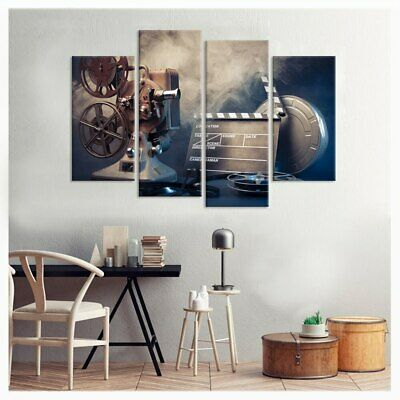 Film Making Concept Tools 4 Pc Canvas Printing Picture Wall Poster Home Decor