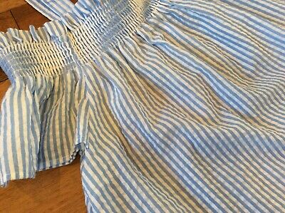Girls Age 14 New Look Blue/ White Floaty Top Great Condition Worn Once
