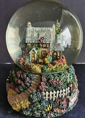 Thomas Kinkade Painter of Light - Julianne's Cottage Musical Snow Globe - Boxed