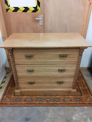 Antique satinwood & pine CHEST OF DRAWERS Edwardian. Delivery