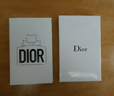 Carnet Bloc Note Publicitaire Dior Neuf Notebook New