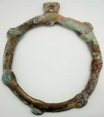 Bronze Large Amulet  69mm. Pendant / Solar sign / 600-900AD. Viking Khazar Rare