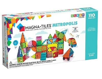 Valtech MAGNA-TILES Metropolis, 3D Magnetic 110pc Building Set - New Sealed Box