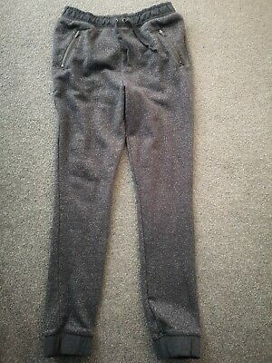 Girls Grey And Silver Sparkly Joggers From Next Age 10 Years