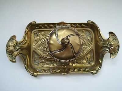 Art Nouveau Style Vintage Ink well & Stand/Tray