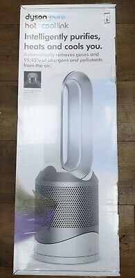 DYSON HP01 Pure Hot+Cool Link Air Purifier Heater And Fan - White/Silver