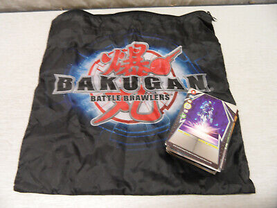 Bundle of 59 Assorted Bakugan Trading Cards With Zip Bag
