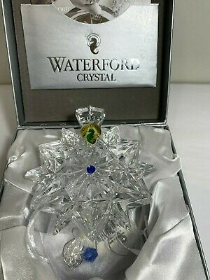 Waterford Crystal 2017 Snowflake Wishes Friendship Christmas Cobalt Ornament New
