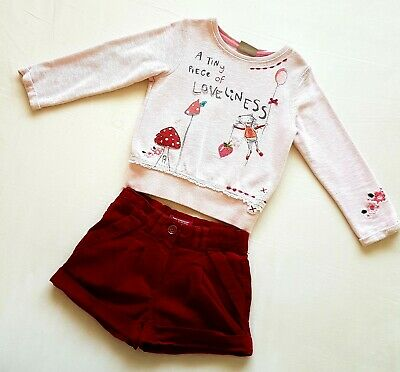 Girls Next Jumper And YD Shorts Outfit 3-4 Years