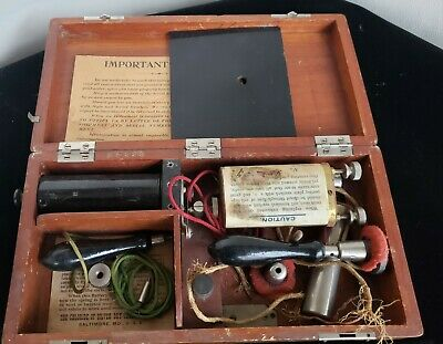 Old  Quack Machine in Wooden Box, batteries etc