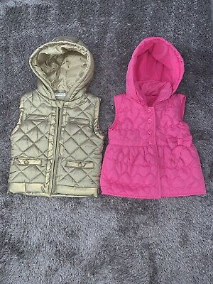 Girls Body warmers Age 3-4 Years French Connection (FCUK) Pink Bow And Gold